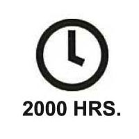 Up to 2000 hours of continuous testing.